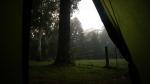 In den Bergen bei The Channon. Mein morgentlicher Blick aus dem Zelt. Mit 4°C ist es ganz schön frisch.