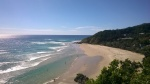 mein Favorit: Wategos Beach (im Hintergrund der östlichste Punkt Australiens)
