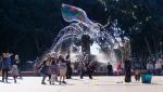 der Seifenblasenmann und begeisterte Kinder (und Erwachsene)