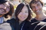 mit Tatsushi und Jia bei der Klippenwanderung