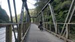 Auf dem Rail-Trail geht es über eine alte Eisenbahnbrücke....