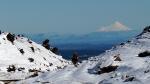 Sogar der schneebedeckte Gipfel von Mt. Taranaki ist zu sehen.