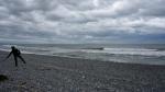 Kurz hinter Greymouth am Strand. Da es nun doch nicht regnet, hab ich wieder Zeit zum trödeln und mach gleich mal eine lange Pause.