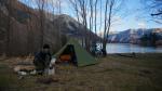 mein Zeltplatz am Lake Pearson