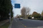 Ankunft in Christchurch. Ein ganz unfassbares Gefühl: auf einmal kann ich Akaroa nicht mehr nur auf Landkarten sondern auch auf einem Straßenschild lesen.